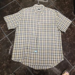 Arizona green short sleeve casual button down